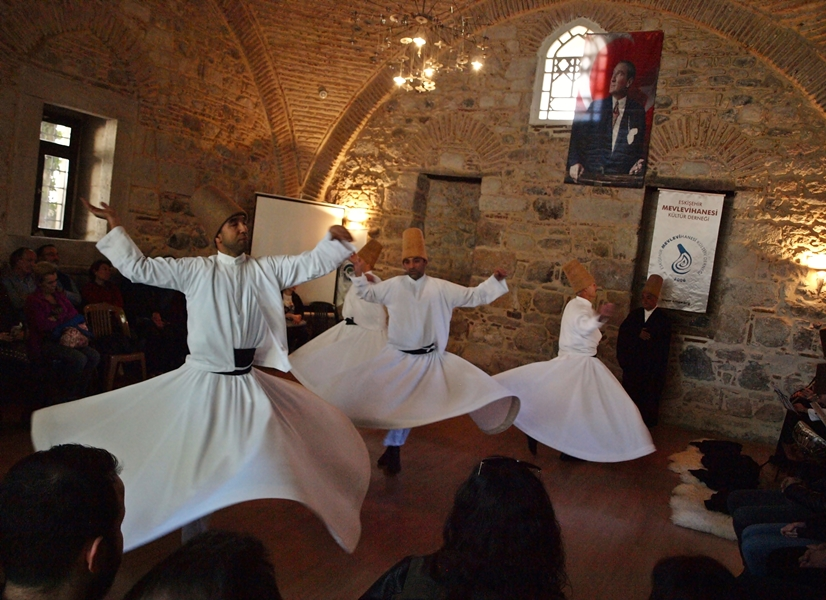 Sufi whirling (Semazen) in Turkey.