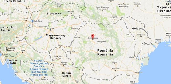 Cluj - mapa