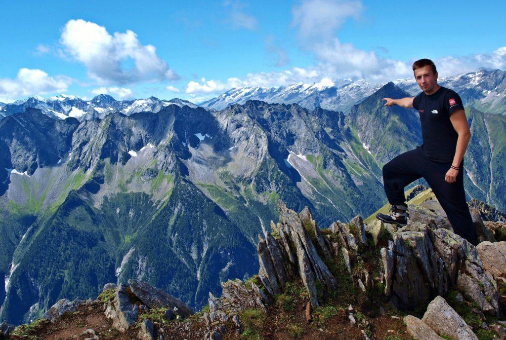 Fefe a tirolské Alpy, Rakúsko.