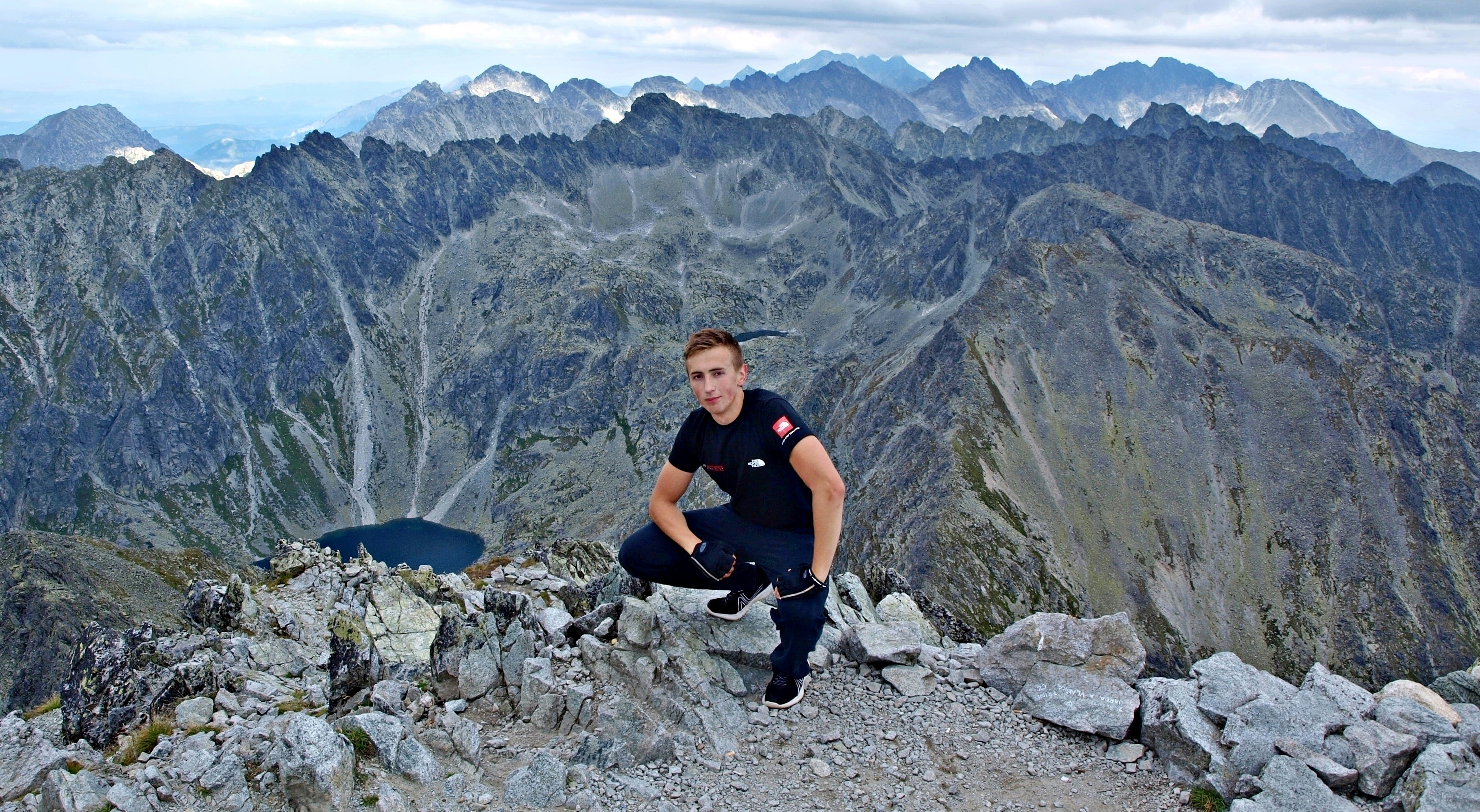 František Kekely on Kriváň in High Tatras, Slovakia.