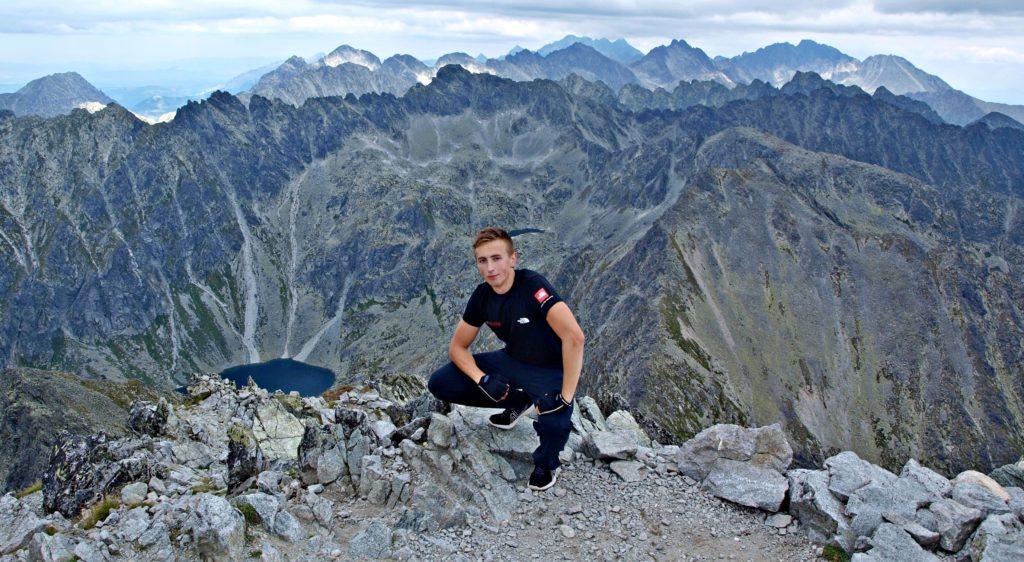 František Kekely on Kriváň in High Tatras, Slovakia.
